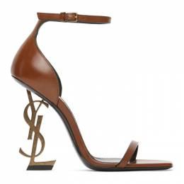 Saint Laurent Brown Opyum 110 Heeled Sandals 620217 DWETT