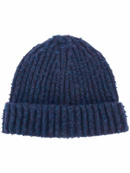 Maison Margiela шапка бини в рубчик с фирменной отделкой S50TC0045S16780
