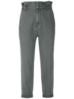 Andrea Bogosian укороченные джинсы с платочным декором 008614