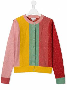 Stella McCartney Kids полосатый кардиган с люрексом 601147SPM23