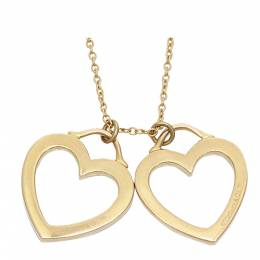Tiffany & Co. Sentimental Heart Double Twin 18K Rose Gold Necklace 298304