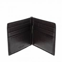 Bottega Veneta Brown Intrecciato Leather Money Clip Bifold Wallet 299095