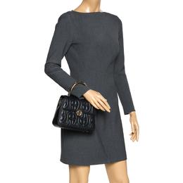 Aigner Black Leather Genoveva Top Handle Bag 298522