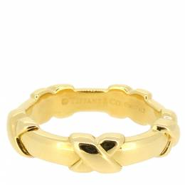 Tiffany & Co. Signature 18K Yellow Gold Ring Size 49 298293