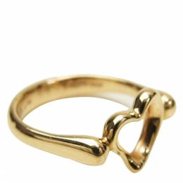 Tiffany & Co. Open Heart 18K Yellow Gold Ring Size 47 298287