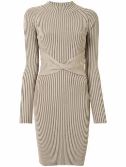 Dion Lee полосатое платье в рубчик с драпировкой A7385P20