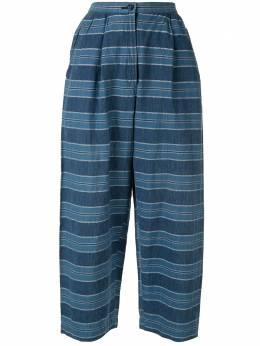 Issey Miyake Pre-Owned укороченные брюки в полоску VG41530