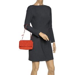 Carolina Herrera Orange Monogram Nylon Shoulder Bag Ch Carolina Herrera 298134
