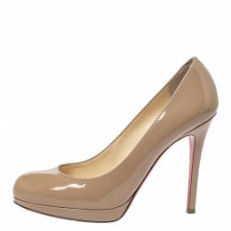 Christian Louboutin Beige Patent Leather New Simple Pumps Size 35.5 299087