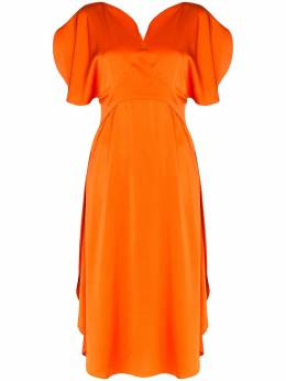 Stella McCartney платье миди со сборками 600851SOA82