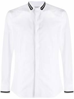 Neil Barrett рубашка с контрастными полосками PBCM1389CP013S