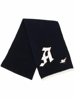 Alexander McQueen шарф в рубчик с вышитым логотипом 626468Q1WZK