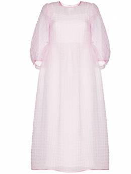 Cecilie Bahnsen платье миди Karmen с пышными рукавами PF200051