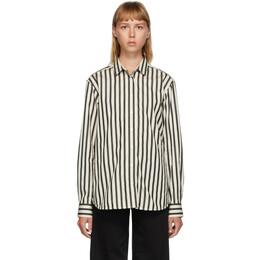 Toteme Black and Off-White Capri Shirt 203-708-716
