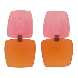 Monies Pink and Orange Izzy Earrings 7954PC