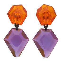 Monies Orange and Purple Riley Earrings 2-136PO