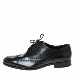 Tod's Black Brogue Leather Lace Up Oxfords Size 42.5 Tod's 299192