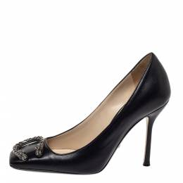 Gucci Black Leather Dionysus Buckle Pumps Size 35.5 299182