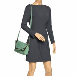 Anya Hindmarch Green Leather Zip Crossbody Bag 298376