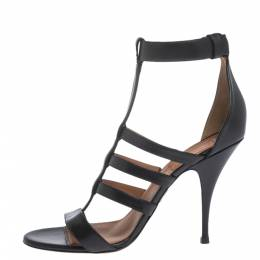 Givenchy Black Leather Kali Strappy Sandals Size 41 299558
