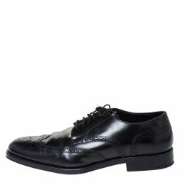 Tod's Black Brogue Leather Lace Up Derby Size 45.5 Tod's 299394