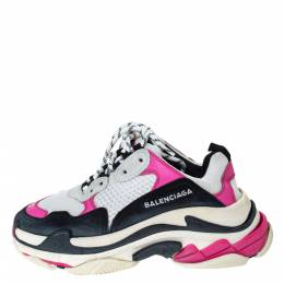 Balenciaga Multicolor Nubuck, Mesh And Leather Triple S Trainer Sneakers Size 37 298500