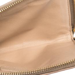 Miu Miu Beige Leather Studded Zip Wallet 299279
