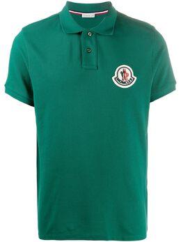 Moncler рубашка поло с нашивкой-логотипом 8A7110084556