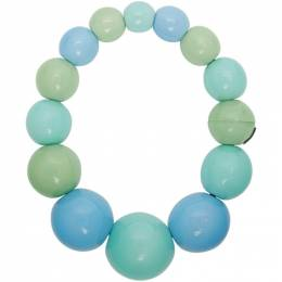 Monies Blue and Green Palermo Necklace 8046PG