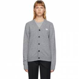 Acne Studios Grey V-Neck Patch Cardigan C60015-