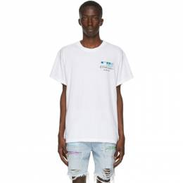Amiri White Watercolors T-Shirt F0M03243CJ