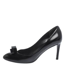 Louis Vuitton Black Leather Gossip Pumps Size 37.5 299775