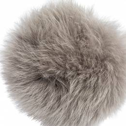 Fendi Light Grey Fox Fur Pom Pom Bag Charm 299406