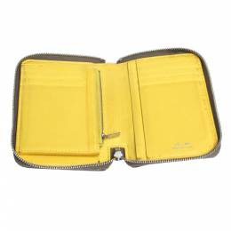 Celine Khaki Leather Zip Around Wallet 299266