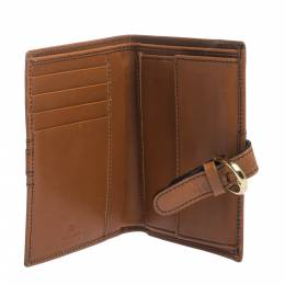 Aigner Tan Leather Compact Wallet 299277