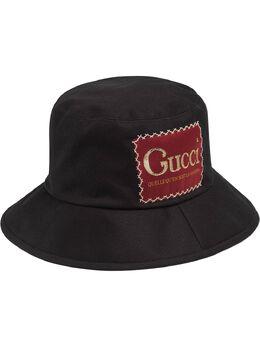 Gucci панама с нашивкой-логотипом 6271744HK02