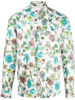 Etro рубашка с цветочным принтом 1K0945720