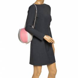 Chanel Pink/White Leather Beach Ball Shoulder Bag 299249