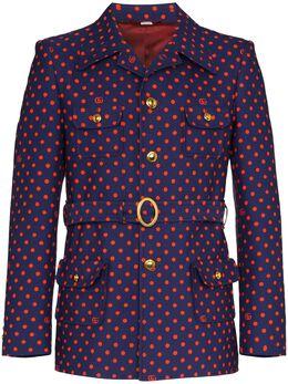 Gucci пиджак в горох с поясом 609478ZADZN