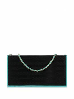 Chanel Pre-Owned клатч 2000-х годов с узором CHANELCALFSKINTURQUOISE