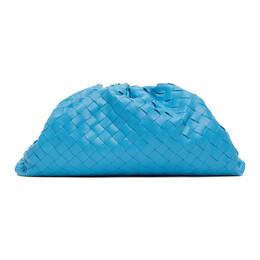 Bottega Veneta Blue Intrecciato The Pouch Clutch 576175 VCPP0