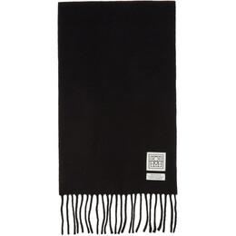 Toteme Black Wool Bova Scarf 194-865-805