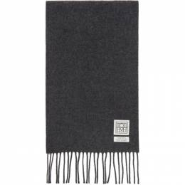 Toteme Grey Wool Bova Scarf 194-865-805