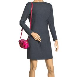 Prada Two Tone Pink Nylon and Patent Leather Jeweled Camera Crossbody Bag 299740
