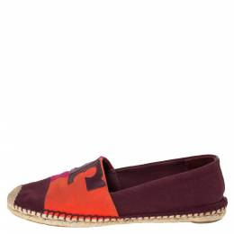 Tory Burch Tricolor Canvas Espadrille Slip On Loafers Size 40.5 300033