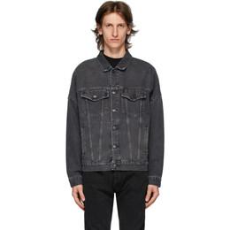 Palm Angels Black Denim Logo Over Jacket PMYE006E20DEN0021001