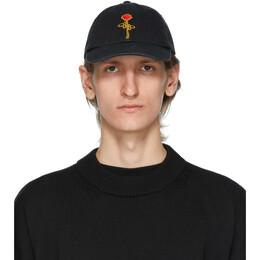 Palm Angels Black Rose Cap PMLB003E20FAB0031025