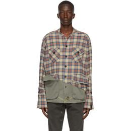 Greg Lauren Multicolor 50/50 Boxy Shirt AM068
