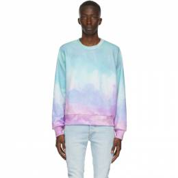 Amiri Multicolor Watercolor Sweatshirt F0M02219TE