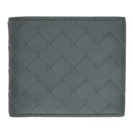 Bottega Veneta Grey Intrecciato Bifold Wallet 605721 VCPQ4